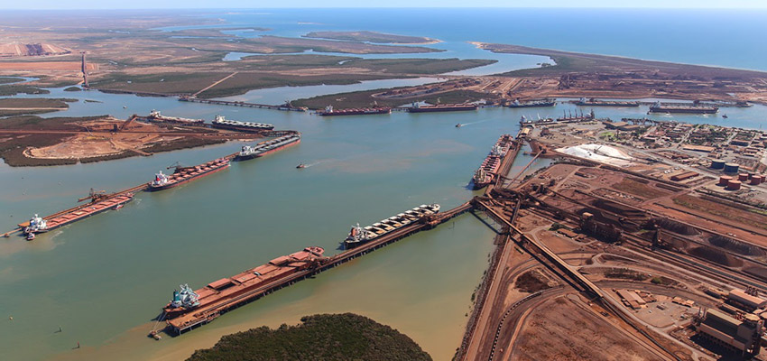 Ports' total monthly throughput up, yet down