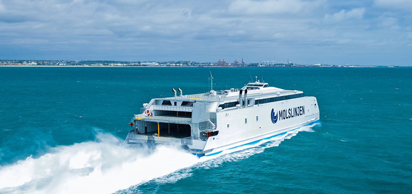 Austal delivers fast ro-pax cat