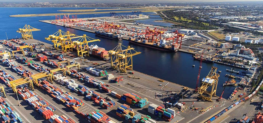 Container volume dip at Port Botany