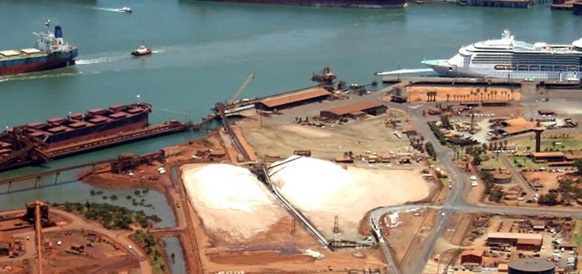 Port Hedland berth works underway