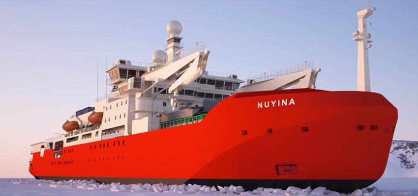 Australia's shiny, new icebreaker to hit Antarctic waters in 2022