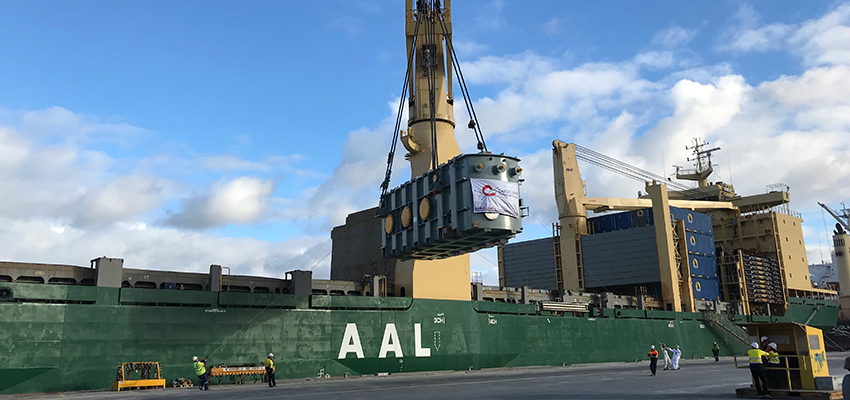 Mega-freight arrives in Geelong