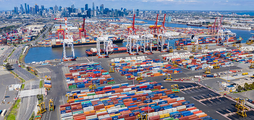 Melbourne container trade solid in January
