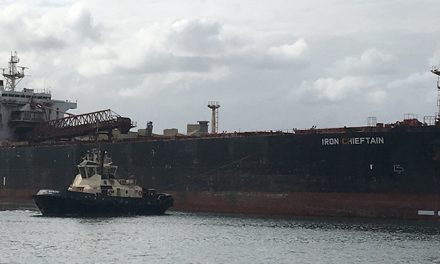 Iron Chieftain leaves Port Kembla