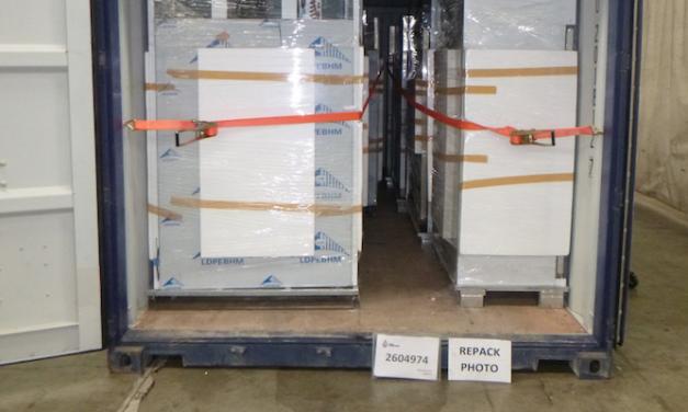"Container exam reveals half of tonne of ""ice"""