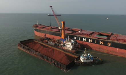 Mobile harbour cranes boost bauxite operation