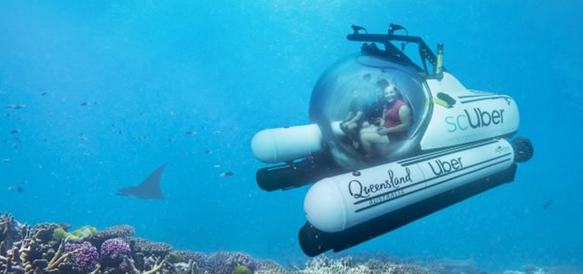 Queensland and Uber partner to launch rideshare submarine