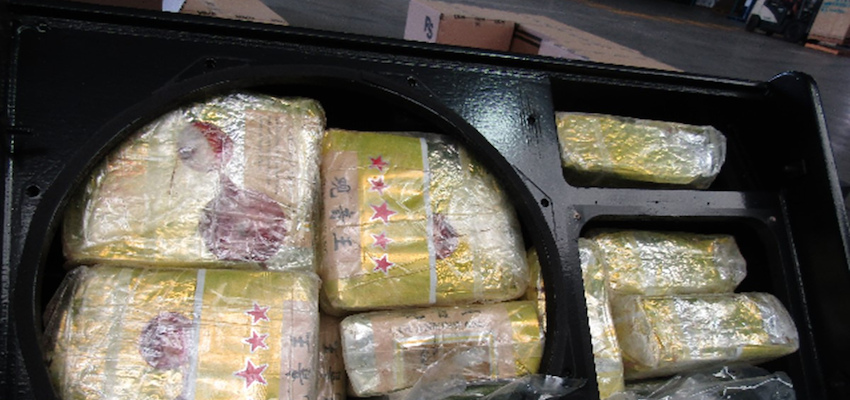 Stereo speakers used to hide giant meth consignment