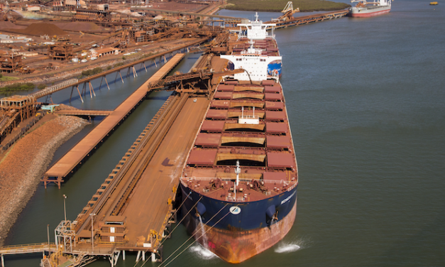 Increase in monthly throughput for Pilbara ports