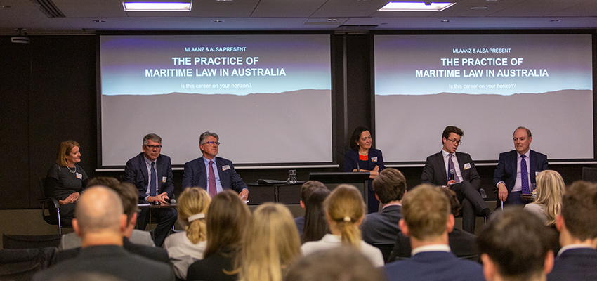 Gathering promotes careers in maritime law