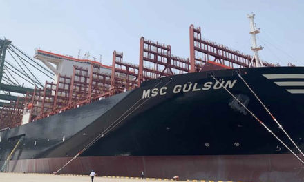 Suez Canal welcomes world's largest container vessel