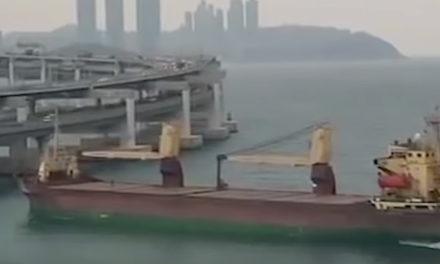 VIDEO: Russian cargo ship hits bridge in South Korea