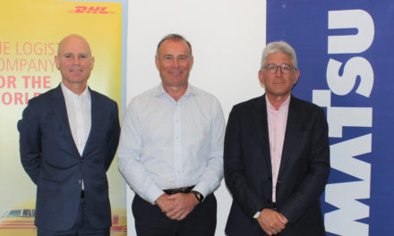 Komatsu machinery import deal with DHL