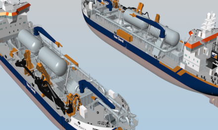 LNG fuel system for new dredgers