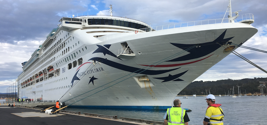 First cruise ship arrives at Port of Eden's new facility