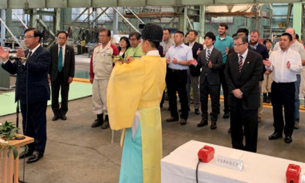 Keel laid for NYK LNG PCTC