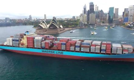 VIDEO: Container ship does donuts in Sydney Harbour
