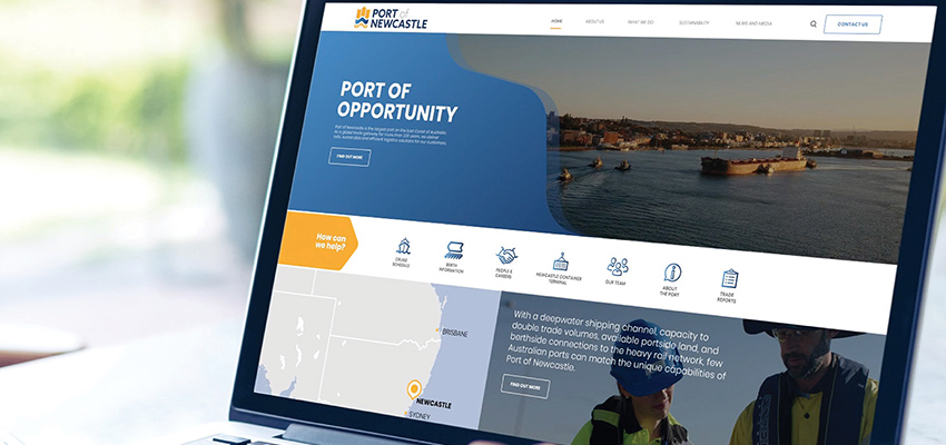 New visual identity for Port of Newcastle