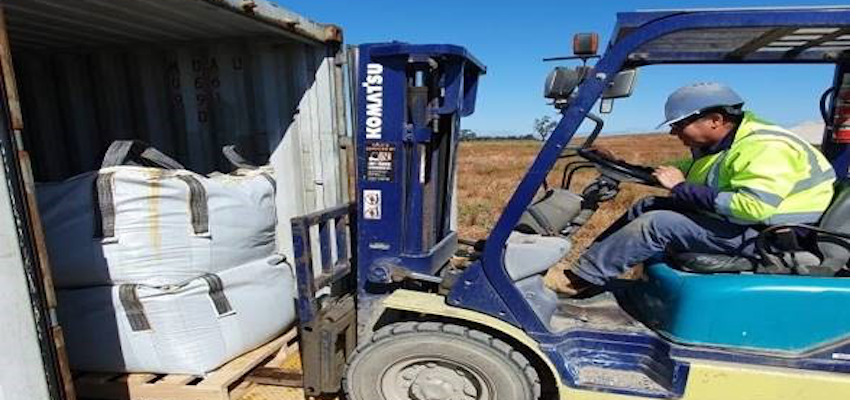 First mineral sands container from Wimmera operation