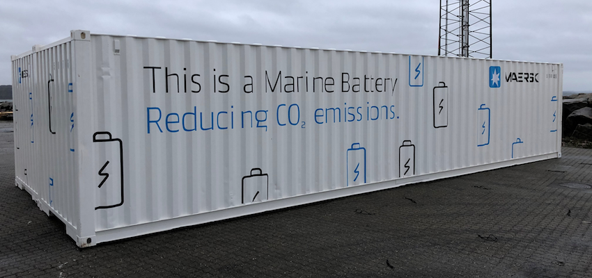 Maersk to pilot a battery system to improve power production