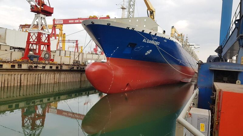 Graphene coating trial on cargo ship
