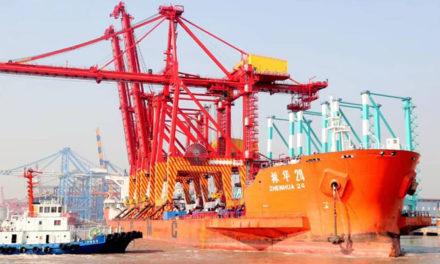 Patrick cranes depart China