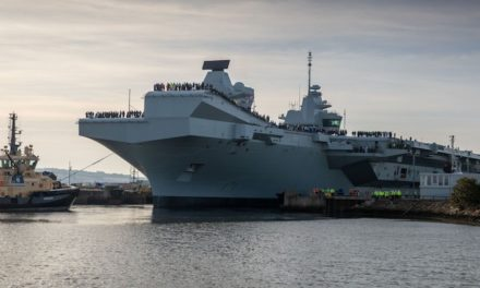 Successful trial of electric power in UK aircraft carrier