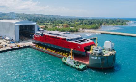 Austal launches 109-metre catamaran ferry