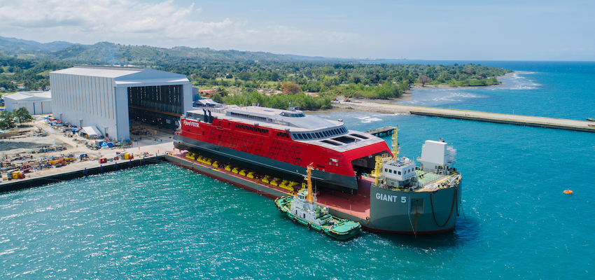 Austal launches 109-metre catamaran ferry