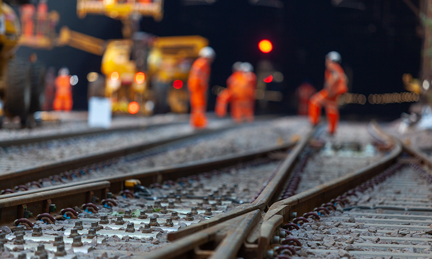 Rail construction continues with safer work practices