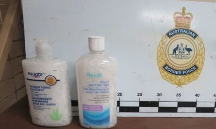 Illicit drugs found in hand sanitiser bottles