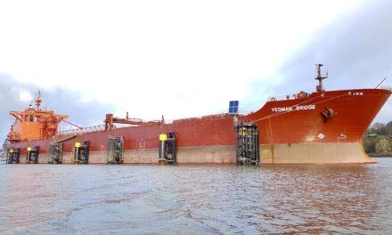 Green berthing area at major port
