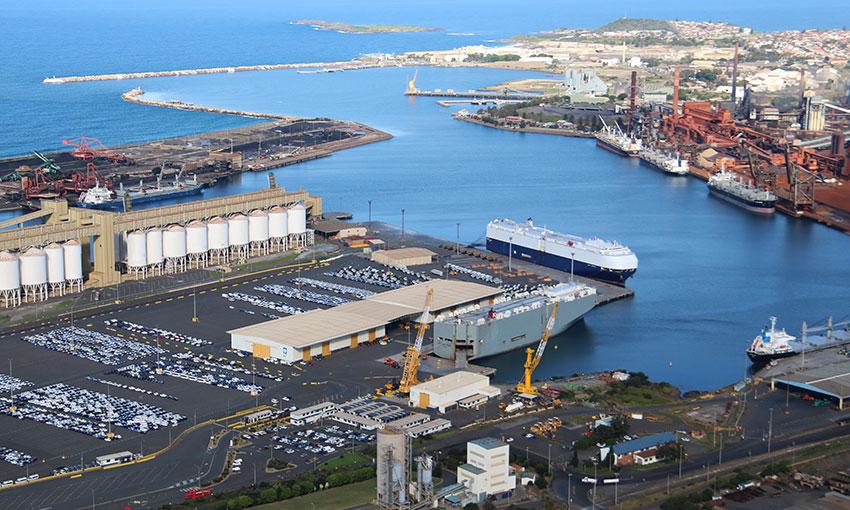 Trade takes a dip at Port Kembla