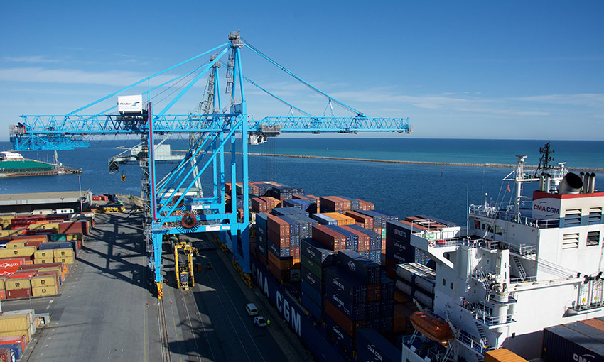 Adelaide's July container trade hits 2020 high