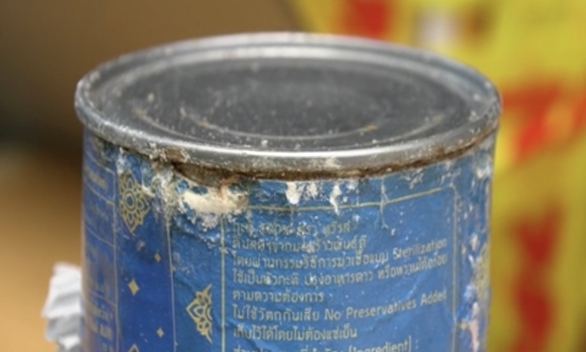 Two arrested and meth in cans of coconut milk seized