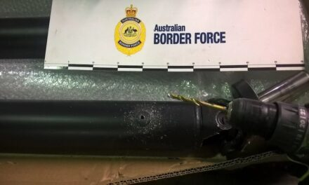 Two men arrested over meth stash in air cargo
