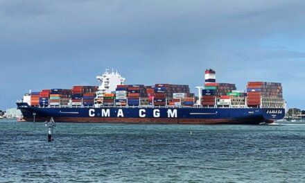 CMA CGM Ural breaks another record in Victoria