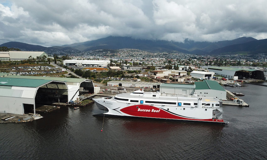 Incat launches 100-metre ship bound for Trinidad and Tobago