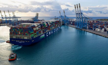Maiden call in Malta by CMA CGM Jacques Saade