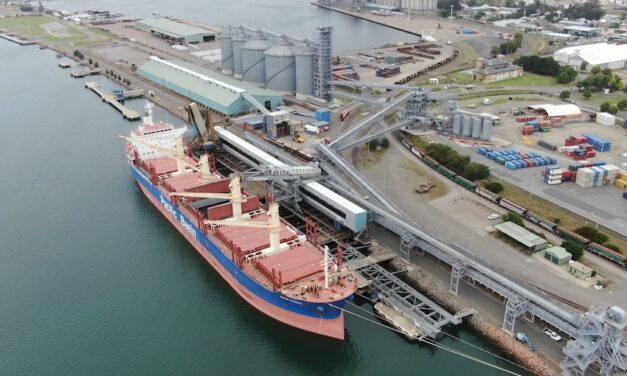 First wheat shipment of the season to leave Newcastle
