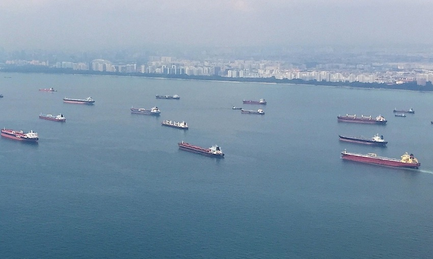 Incident alert for ships in eastbound lane of Singapore Strait