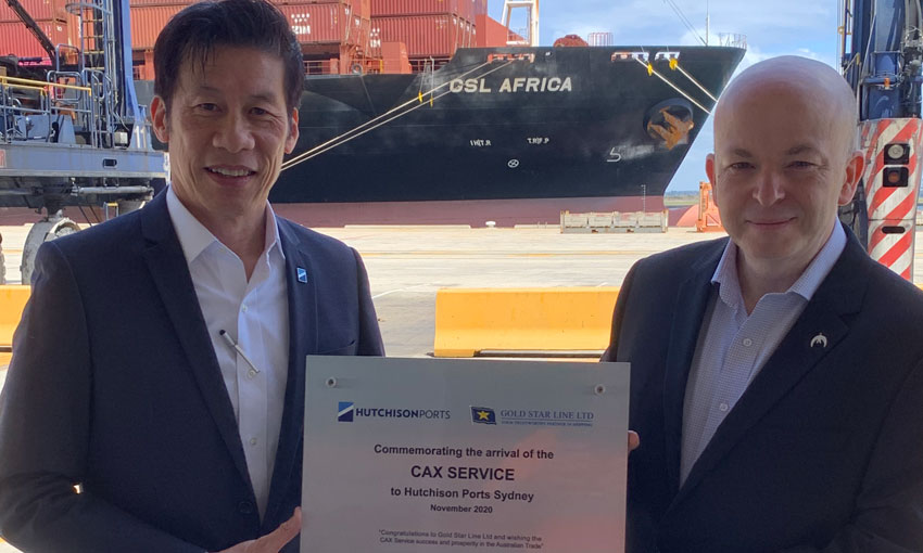 First CAX visitor welcomed by stevedores