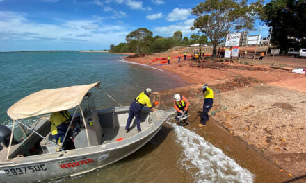 Oil spill response skills tested at Weipa