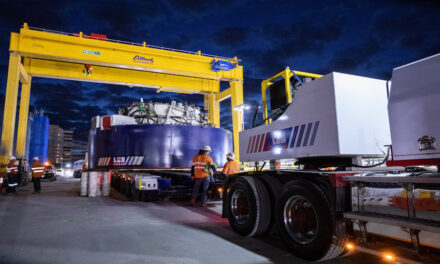 LCR transports massive tunnel boring machine