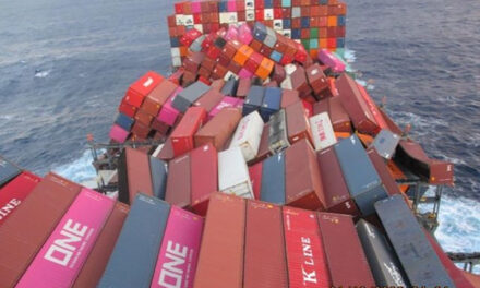 ONE Apus still offloading damaged containers