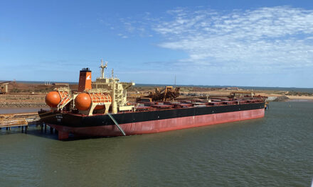 LNG-fuelled vessel calls at Port Hedland for first time