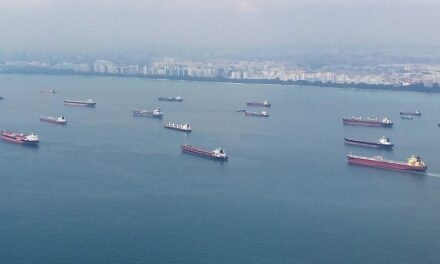 Incident alert on ships in eastbound lane of Singapore Strait