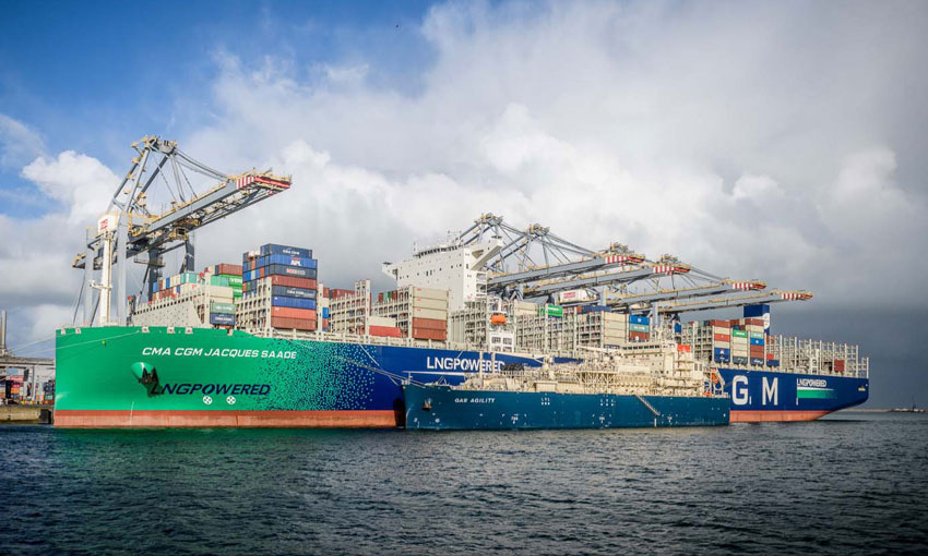 Shipping giant launches low-carbon solution using biomethane