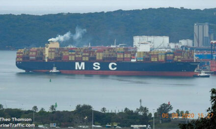 Another large containership hits trouble in heavy weather