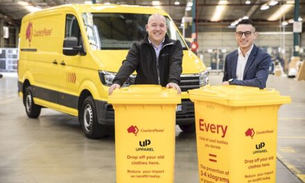 Courier company helping to reduce textile waste